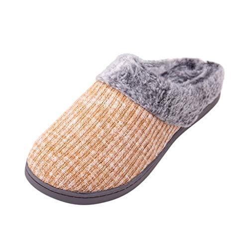 HDUFGJ Herren Damen warme Pantoffeln Plüsch Warm Home rutschfeste Slippers Pantoffeln Bequem Wärme Halten House Schuhe40 EU-41 EU(Gelb)