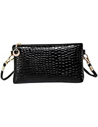 RETUROM Women Crocodile Leather Messenger Crossbody Clutch Shoulder Handbag