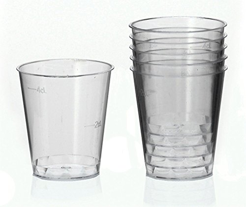 Preisvergleich Produktbild 1000 Schnapsbecher Schnapsglas Plastikbecher Medizinbech Einweg 2cl - 4cl