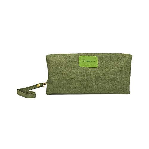 MISSMARCH Cosmetic Bag Multi-Funktions-Wäsche-Beutel Oxford Cloth Travel Große Kapazitäts-bewegliche Simple Storage Bag einfach und bequem (Color : Green, Size : L28W15H8)