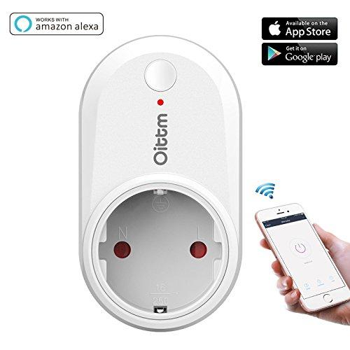 Preisvergleich Produktbild Oittm Intelligente Steckdose Funktioniert mit Amazon Alexa Smart Plug Funktioniert mit Google Home Wifi Steckdose mit App Steuerung Funksteckdose mit Gruppe Verwaltung und Timer Funktion (Weiß)