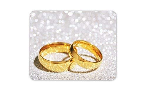 Schöner Trauringe Mauspad-Auflage - Ring Hochzeit Geschenk-Computer-# 8676