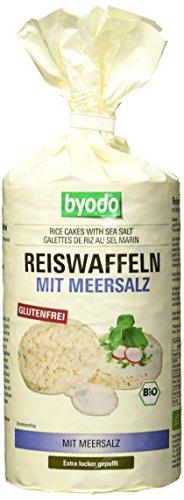 Byodo Reiswaffeln mit Meersalz, 12er Pack (12 x 100 g Packung) - Bio
