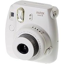 Fujifilm Instax Mini 8 - Cámara analógica instantánea (flash, velocidad de obturación fija de 1/60 s), color
