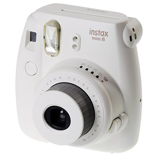 Fujifilm Instax Mini 8 - Cámara instantánea (flash, 1/60 sec), color blanco