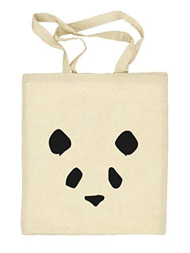 Bad Panda, Panda Face Gesicht Natur Stoffbeutel Jute Tasche (ONE SIZE) Natur