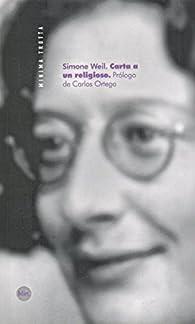Carta a un religioso par Simone Weil