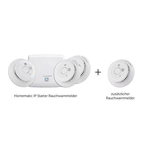 Homematic IP Smart Home Starter Set Rauchwarnmelder + zusätzlicher Rauchmelder