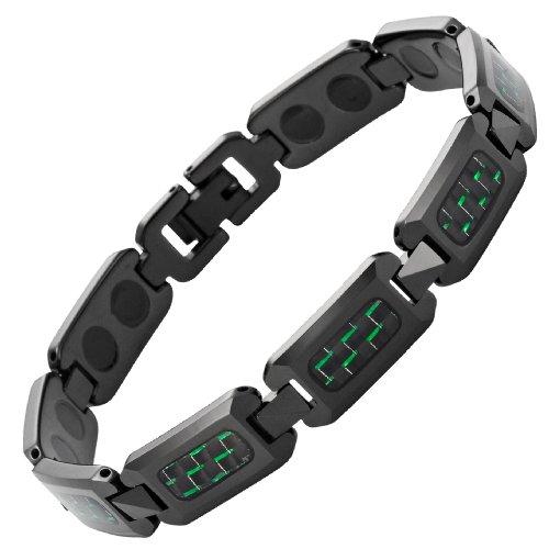 willis-judd-braccialetto-magnetico-in-tungsteno-lucidato-colore-nero-fibra-di-carbonio-in-confezione