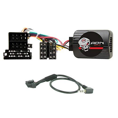 Interface Commande au volant PG4P pour Peugeot ap98 Mini-ISO Pioneer Sony - ADNAuto