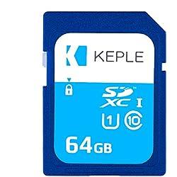 Keple Carte Mémoire SD de 64 Go Carte SD Quick Speed pour Sony Cyber-Shot RX-100 III, II, IV, DSC-RX10, DSC-TF1 SLR Appareils Photo Numériques | SDXC UHS-1 U1 de 64 GB pour vidéos et Photos HD