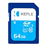 Carte Mémoire SD de 64 Go par Keple | Carte SD Quick Speed pour Sony Cyber Shot DSC-HX400V, DSC-HX400V, DSC-H300, DSC-H400 SLR Appareils Photo Numériques | Carte Mémoire SDXC UHS-1 U1 UGB-1 de 64 Go pour vidéos et photos HD