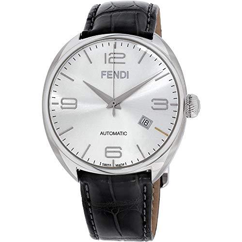 Fendi Fendimatic Silver Dial Leather Strap Men's Watch F200016061