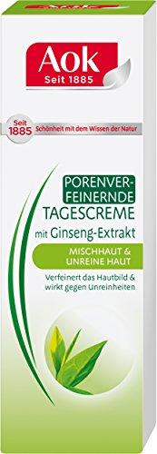 Aok Weißer Porenverfeinernde Tagescreme mit Ginseng-Extrakt, 4er Pack (4 x 50 ml)
