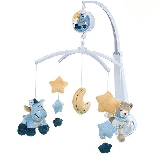 Musik Mobile Börchen / Esel, 4 Halter, Figuren waschbar, 31x60 cm, ab 0 Mo: Musikmobile Baby Mobile Musik Spieluhr Spielzeug Einschlafhilfe Mobile Bör