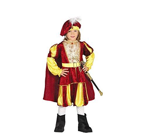 mittelalterlicher Märchen Prinz Karneval Motto Party Kostüm für Kinder Gr. 98 - 128, - Kind Mittelalterlicher König Kostüm