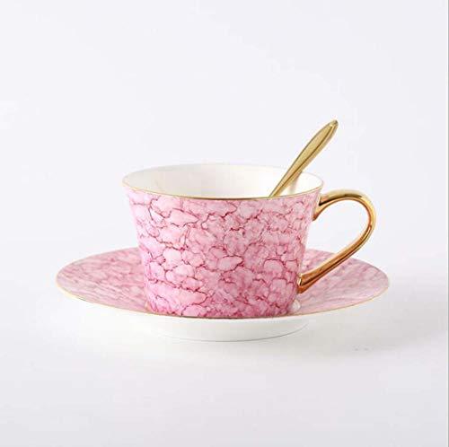 Européenne De Style Après-Midi Tasse De Thé Creative British Céramique Amateurs Tasse d'encre Phnom Penh Bone Porcelaine Tasse De Café Plaque,Pink