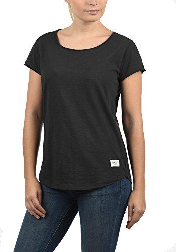 DESIRES Lykke Damen T-Shirt Kurzarm Shirt mit Rundhalsausschnitt Aus 100% Baumwolle, Größe:L, Farbe:Black (9000)