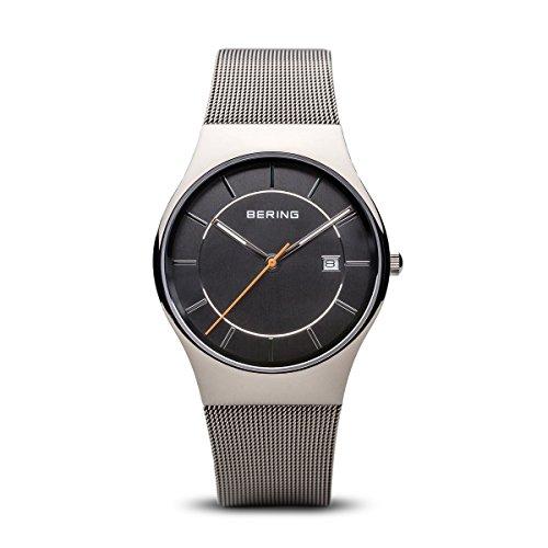 Bering orologio uomo Classic mesh quadrante grigio 11938–007
