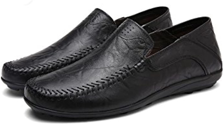 YXLONG Fruumlhling und Herbst Neue Leder Erbsen Schuhe Männer Große Größe Casual Schuhe Ein Fuß Wildleder Schuhe