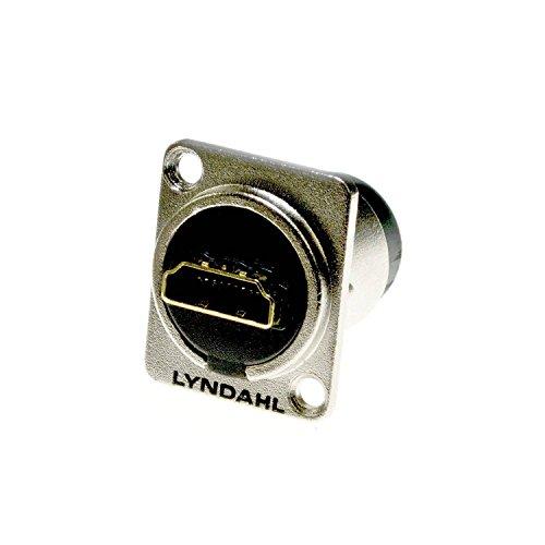 Lyndahl HDMI 1.4 Einbau - Flanschdose, LKHA20, Highend Durchgangsdose für HDMI-Kabel Einbaubuchse, HDMI-Durchgangsdose