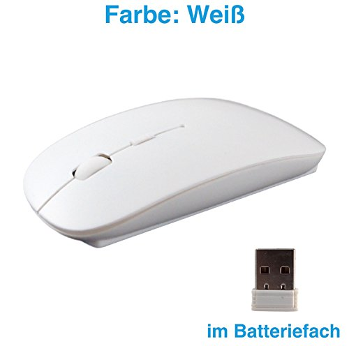 T: a Wireless USB Mouse del PC senza fili mouse COMPUTER LAPTOP NOTEBOOK Mouse Wireless 2.4GHz Nero bianco bianco
