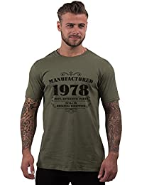 Bang Tidy Clothing Men's 40th Birthday T Shirt Manufactured 1978 T Shirts 40th Birthday Gifts