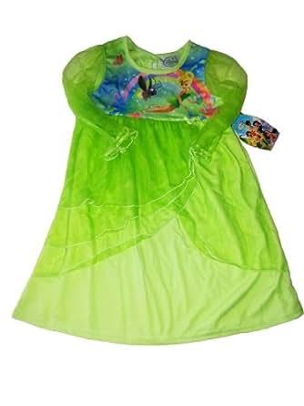 Disney Fairies Fée Clochette Chemise de nuit à manches longues, taille 104–110(US 5)