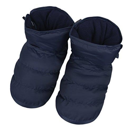 a0381261 Zapatillas Interior casa Pantuflas terciopelo Zapatos Antideslizante  Impermeable caliente calcetines suelo Epais suave con forro peluche