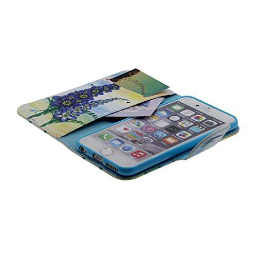 """Flip Libro Portafoglio Borsa Apple iPhone 6S Plus / 6 Plus 5.5"""" Custodia Protettiva ( Rosa ) Antiurto, PU Pelle Luce Case Cover, Bella Apparenza Originale design Modello Serie Stile per le Ragazze Giallo"""