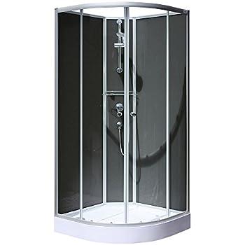 cabine de douche ronde 80 cm ch ssis en aluminium bricolage. Black Bedroom Furniture Sets. Home Design Ideas