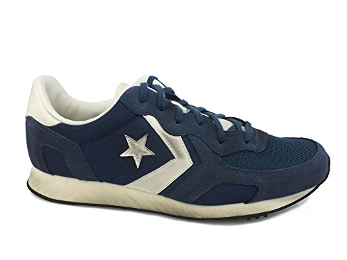 Converse, Auckland Racer Ox Nylon/Suede, Sneaker, Unisex - adulto, Blu (Navy/Off White), 42