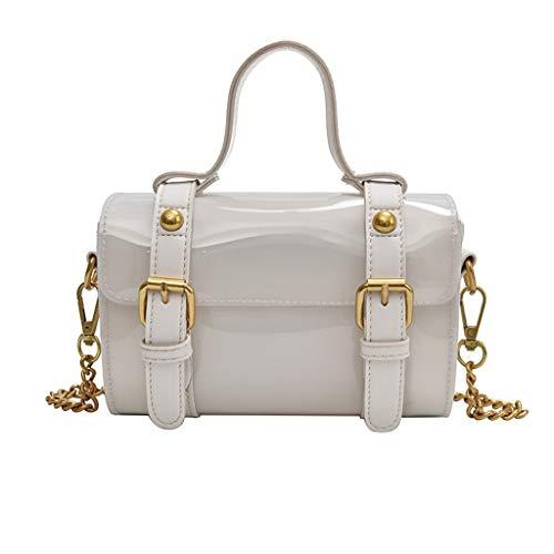 Dhyuen Women Trendy Clear Jelly Schultertasche Ladies Campus Style Leisure Messenger Bag -