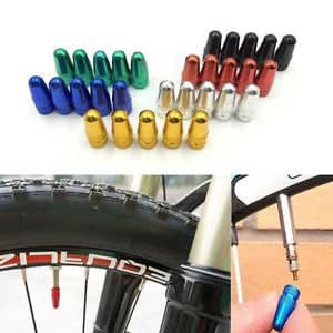 5Pcs Bicycle Bike Presta Wheel Rims Tyre Stem Air Valve Caps Dust Cover-Red