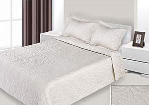 170x210 cm creme Tagesdecke Bettüberwurf mit Steppungen und 1 Kissenbezug 50x70 Neuheit Schnäppchen Adelle