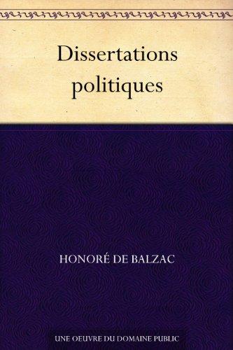 Couverture du livre Dissertations politiques
