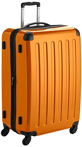 HAUPTSTADTKOFFER - Alex - Bagage Rigide Valise Grande Taille, Trolley avec 4 Roues multidirectionnelles, 75 cm, 119 litres, Orange