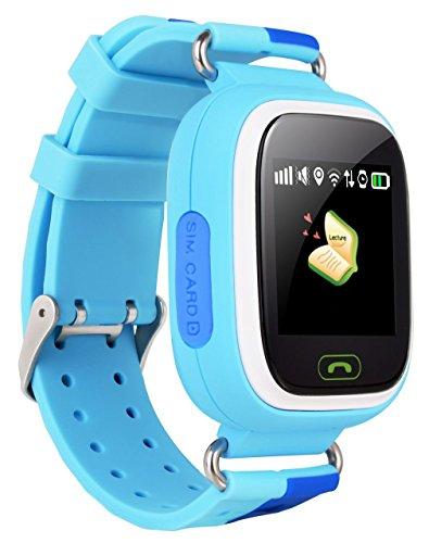 VIDIMENSIO GPS Telefon Uhr Kleiner Affe - blau (Wifi), OHNE Abhörfunktion, für Kinder, SOS + Telefonfunktion + GPS+WIFI+LBS Ortu Abbildung 2