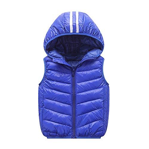 XXYsm XXYsm Kinder Westen Baby Mäntel Winter Jacke Mädchen Jungen Warme Weste Dicke Hoodie Oberbekleidung Blau ?100/18-24 Monate