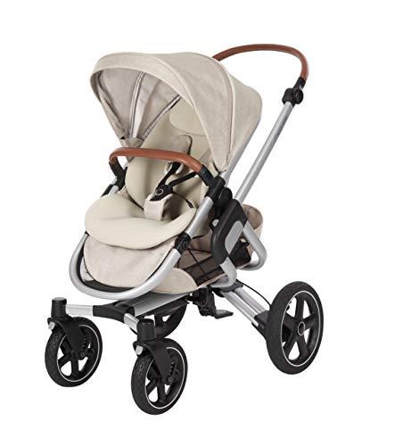 Maxi-Cosi Nova 4-Rad Kinderwagen, automatisch klappbar, nutzbar ab der Geburt mit Babyschale oder Babywanne Oria bis circa 3,5 Jahre, komfortabel für Stadt und Land, Nomad sand