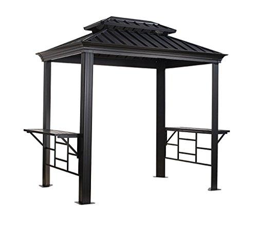 sojag aluminium pavillon berdachung bbq messina 179x292 cm grillpavillon und gartenlaube. Black Bedroom Furniture Sets. Home Design Ideas