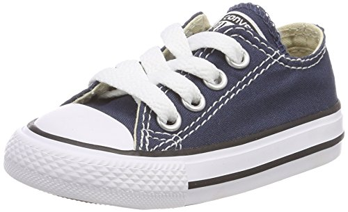 Converse Chuck Taylor All Star, Unisex-Kinder Sneakers, Blau (Navy), 35 EU (Converse Kid Sneakers)