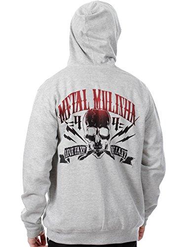 Metal Mulisha Never die Zip Kapuzenjacke schwarz Athletic Grey Heather