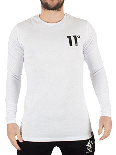 11-degrees-uomo-t-shirt-maniche-lunghe-hem-curvo-logo-bianca-large