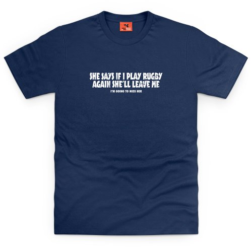 Girlfriend vs Rugby T-Shirt, Herren Dunkelblau