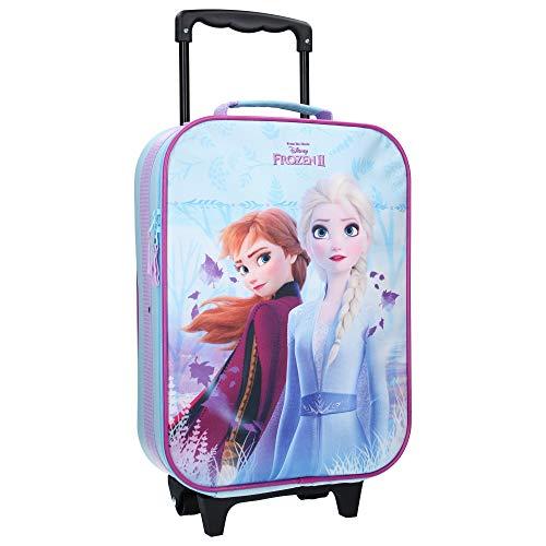 Disney Frozen 2 Koffer Kindertrolley 12 Liter Trolley Kinderkoffer Handgepäck Trolly Rollkoffer Mädchenkoffer Eiskönigin ELSA