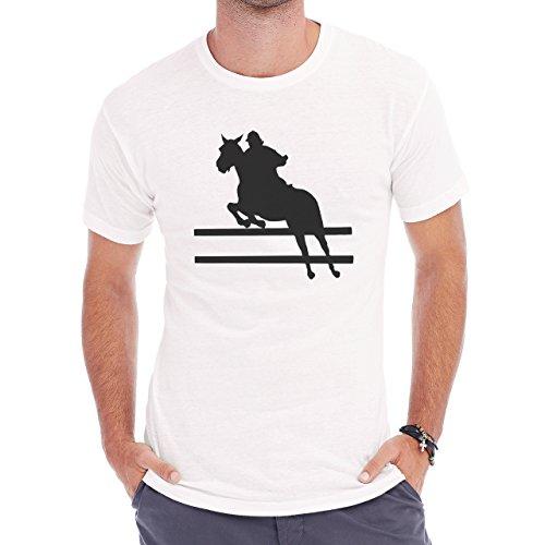 Horse Animal Pony Stud Obsticle Herren T-Shirt Weiß