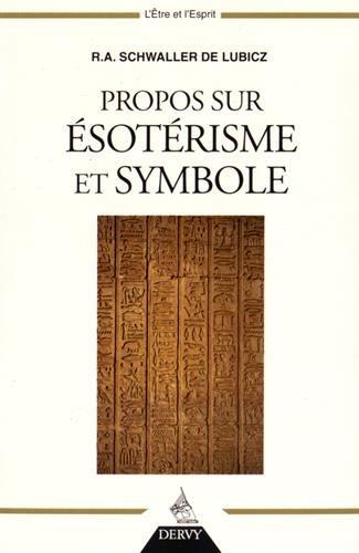 Propos sur sotrisme et symbole