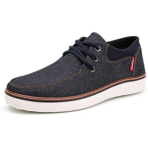 Scarpe uomo UE39-EU46 casuale/Outdoor/Travel Denim Moda in Pelle Sneakers scarpe Scheda di colore grigio-us9.5 / EU42 / uk8.5 / CN43
