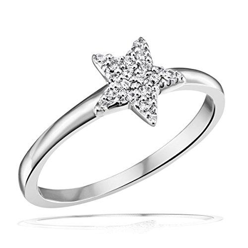Goldmaid Damen-Ring Stern 925 Sterlingsilber 16 Zirkonia Gr. 52 Fo R5209S52 Schmuck -